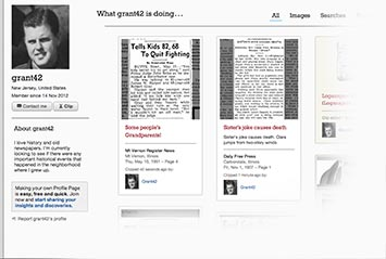 Profile page on Star-Gazette Archive